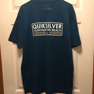 NWOT Quiksilver Short Sleeve Tee Shirt Teal Sz XL